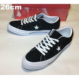 コンバース(CONVERSE)の新品26cm ONE STAR スウェード 黒 白 赤箱 三ツ星(スニーカー)