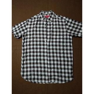 シュプリーム(Supreme)のsupreme/ シュプリーム 半袖チェックシャツ メンズM ブラウン(シャツ)