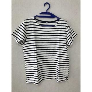 ユニクロ(UNIQLO)の【美品】ボーダーTシャツ(Tシャツ(半袖/袖なし))
