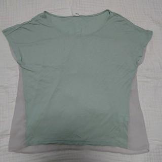 ユニクロ(UNIQLO)の処分特価 薄緑トップス(カットソー(半袖/袖なし))