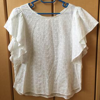 ジーユー(GU)のgu コットンレース ブラウス(シャツ/ブラウス(半袖/袖なし))