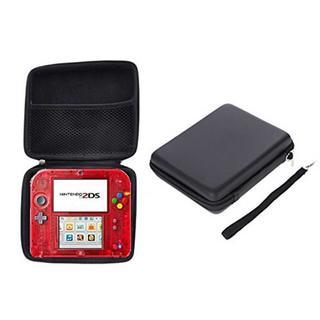 ニンテンドー2DSのハードケース+クリアケース(ブラック)(携帯用ゲーム本体)