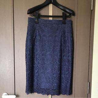 ユニクロ(UNIQLO)の新品!ユニクロ レーススカート L(ひざ丈スカート)