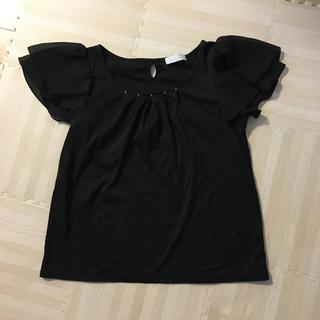 フェルゥ(Feroux)のフェルゥ黒のトップス(カットソー(半袖/袖なし))