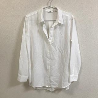 ユニクロ(UNIQLO)の白ブラウス(シャツ/ブラウス(長袖/七分))