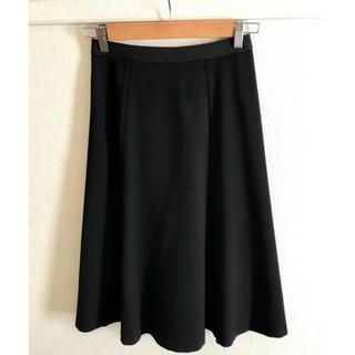 ユニクロ(UNIQLO)のUNIQLO   ポンチフレアミディスカート(ひざ丈スカート)