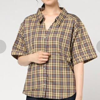マウジー(moussy)のマウジー チェックシャツ(シャツ/ブラウス(半袖/袖なし))