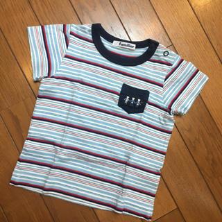 ファミリア(familiar)のfamiliar マルチボーダーTシャツ 90(その他)