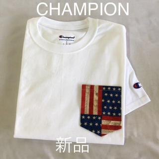 チャンピオン(Champion)のチャンピオンポケット付きTシャツ ホワイトのL(Tシャツ/カットソー(半袖/袖なし))