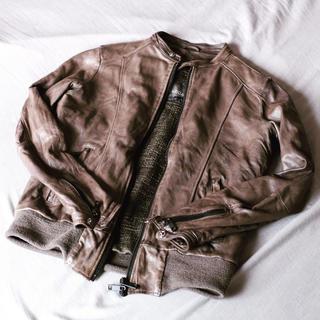 ジョルジオブラット(GIORGIO BRATO)の別注 ジョルジオブラット レザージャケット ライダース 46 (レザージャケット)