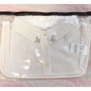 レストローズ(L'EST ROSE)のビジュー襟 付け襟 ビニールポーチ付き(つけ襟)