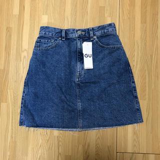 ジーユー(GU)の新品♡GUデニムカットオフミニスカート(ミニスカート)