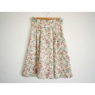 クチュールブローチ(Couture Brooch)のクチュールブローチ フラワージャガード風スカート36ピンク(ひざ丈スカート)