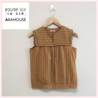 アバハウス(ABAHOUSE)のRouge vif アバハウス ノースリーブ プリーツ ブラウス(シャツ/ブラウス(半袖/袖なし))