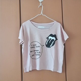 アロー(ARROW)のkissmarkのくすみピンクTシャツ(Tシャツ(半袖/袖なし))