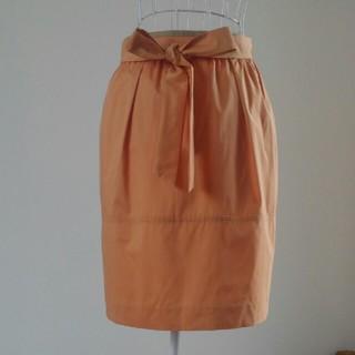 ノーリーズ(NOLLEY'S)の新品タグ付NOLLEYS オレンジスカート(ひざ丈スカート)