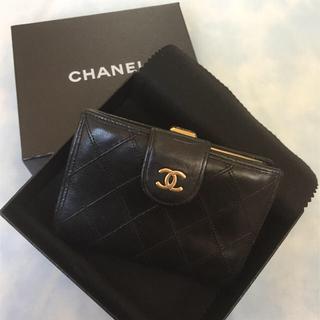 シャネル(CHANEL)のnikoさま専用♡シャネル CHANELビコローレ がま口 二つ折り財布 (財布)