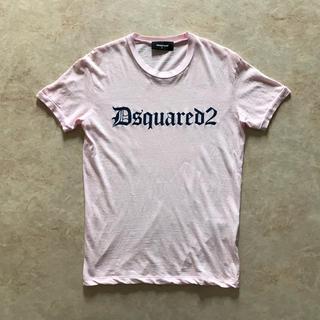 ディースクエアード(DSQUARED2)の【本物】DSQUARED2 ゴシックロゴ ピンク Tシャツ ディースクエアード(Tシャツ/カットソー(半袖/袖なし))