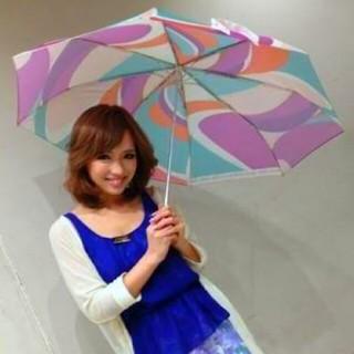 リエンダ(rienda)のリエンダ スエルタ カラフル マーブル 折り畳み 傘 日傘 兼用 ピンク 水色紫(傘)