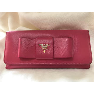 プラダ(PRADA)のPRADA ピンク 長財布(財布)