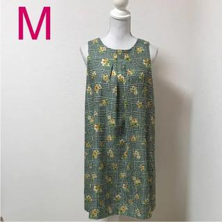 クチュールブローチ(Couture Brooch)の新品 クチュールブローチ チェック 花柄 Aライン ワンピ(ひざ丈ワンピース)