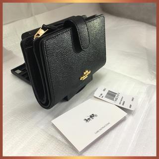 コーチ(COACH)の■COACH 二つ折り財布 F11484 クロスグレイン ミディアムブラック新品(財布)