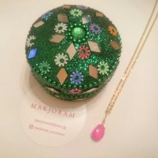 ビューティアンドユースユナイテッドアローズ(BEAUTY&YOUTH UNITED ARROWS)のmarjoram マジョラム 1粒 ネックレス ピンク 美品(ネックレス)