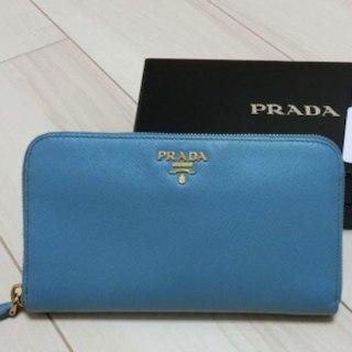 プラダ(PRADA)のプラダ ターコイズブルー 財布(財布)