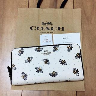 コーチ(COACH)の新品未使用 最新モデル COACH/コーチ 長財布 人気 ハチ チョークホワイト(財布)