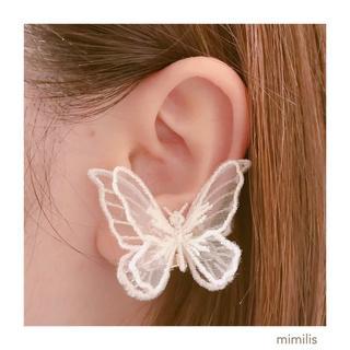 片耳用♡耳に寄り添う蝶々のイヤリング(イヤーカフ)(イヤーカフ)