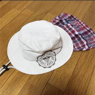 サンカンシオン(3can4on)の3カン4オン 日除け付き帽子 (帽子)