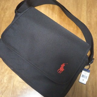 ポロラルフローレン(POLO RALPH LAUREN)の新品未使用 ポロ ラルフローレン メッセンジャーバッグ ブラック(メッセンジャーバッグ)