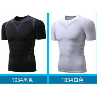 加圧シャツ 半袖 T シャツ 2 XL(トレーニング用品)