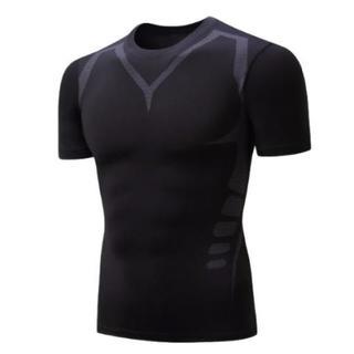 加圧シャツ 半袖 T シャツ M(トレーニング用品)