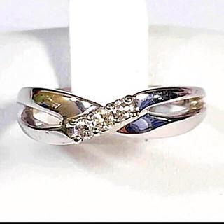 ヨンドシー(4℃)の鑑定済み 4°C ホワイトゴールドダイヤモンドリング(リング(指輪))