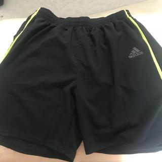 アディダス(adidas)のadidas ランニング パンツ ブラック イエロー メンズ L(その他)