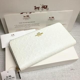 コーチ(COACH)のCOACH 長財布 コーチ正規品 F54805 ホワイト 女性用財布 正規品(財布)