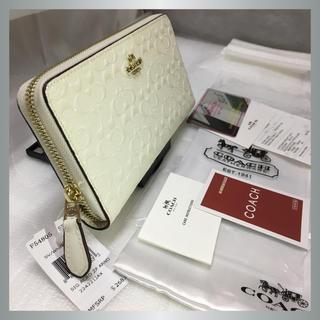コーチ(COACH)の★送料込み ■COACH F54805 IMCHK ホワイト 長財布 新品(財布)
