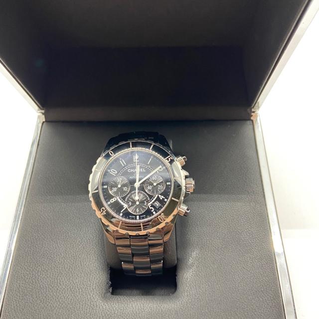 new style d9f11 690fe CHANEL J12 クロノグラフ高級メンズ腕時計