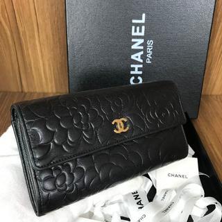 シャネル(CHANEL)の美品❤保証書付き❤カメリア❤CHANEL❤ココマーク❤長財布❤v869(財布)