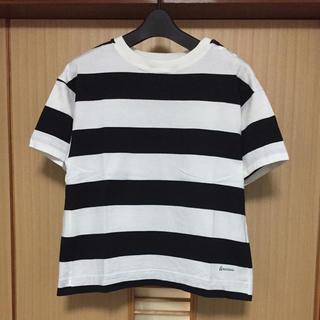 アメリカーナ(AMERICANA)の美品 アメリカーナ ボーダー カットソー Tシャツ 1度のみ着用(カットソー(半袖/袖なし))