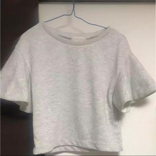 アンドクチュール(And Couture)の袖コンシャスフリルトップス snidel MIIA アプワイザーリッシェ(Tシャツ(半袖/袖なし))