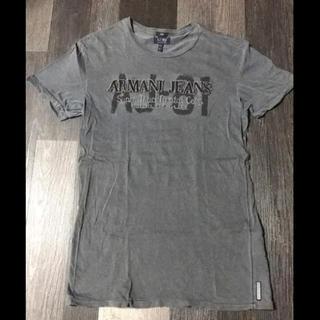 アルマーニジーンズ(ARMANI JEANS)のARMANI JEANS  アルマーニジーンズ Tシャツ グレー  美品(Tシャツ/カットソー(半袖/袖なし))