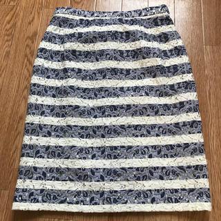 デミルクスビームス(Demi-Luxe BEAMS)のデミルクス ビームス レースタイトスカート(ひざ丈スカート)