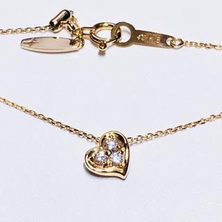 ヨンドシー(4℃)の4°Cプレジェンス K18 ダイヤモンド リバーシブルハートネックレス(ネックレス)