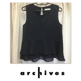 アルシーヴ(archives)のおしゃれなペプラムブラウス♡(シャツ/ブラウス(半袖/袖なし))
