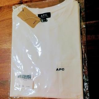 アーペーセー(A.P.C)の新品未使用 A.P.C. 刺繍ロゴポケットTシャツ XS  白 ホワイト(Tシャツ/カットソー(半袖/袖なし))