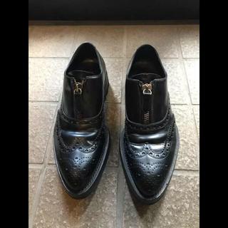 プラダ(PRADA)の復刻 PRADA プラダ シャークソール フロントジップ ドレスシューズ 革靴(ドレス/ビジネス)