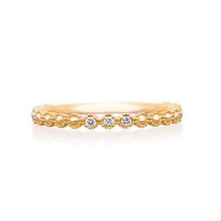 ヨンドシー(4℃)のcanal4°C k10 YG ダイヤ フリルリング 3号 ピンキーリング (リング(指輪))
