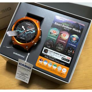 カシオ(CASIO)の送料込!カシオ スマート アウトドア ウォッチ オレンジWSD-F10RG 中古(腕時計(デジタル))